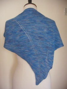 Askew knit scarf