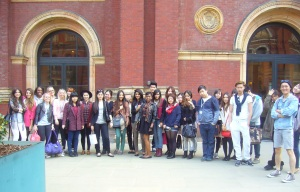 LCF students visit David Bowie Is at the V&A